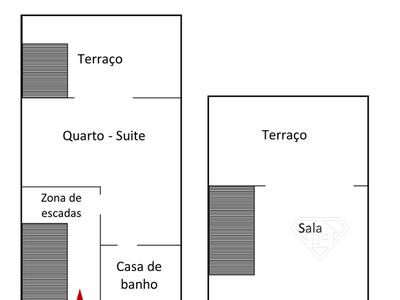 Apartamento Duplex T2, com estacionamento, na Marina de Vilamora